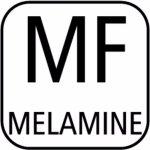 miska 12,5 cm 0,4 l, štvorcová, melamín, čierna, APS