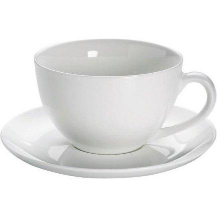 Hrnček na čaj jumbo 0,58 l s podšálkou, Basic Maxwell & Williams