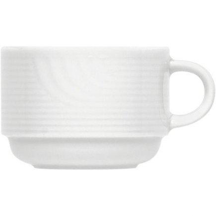 šálka na kávu stohovateľná 0,22 l, vhodné doplniť podšálkou č.221112107, Carat Uni, forma Carat je klasik v kolekcii firmy Buaucher, je preverená a obľúbená zákazníkov po mnoho rokov