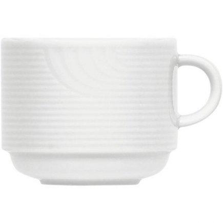 šálka na kávu stohovateľná 0,28 l, vhodné doplniť podšálkou č.221112107, Carat Uni, forma Carat je klasik v kolekcii firmy Buaucher, je preverená a obľúbená zákazníkov po mnoho rokov