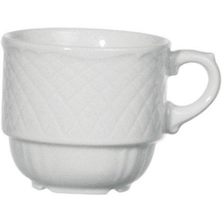 šálka na kávu vysoká stohovateľná 0,20 l, odolný do umývačky, vhodné doplniť podšálkou č.221193405, La Reine Form 773,