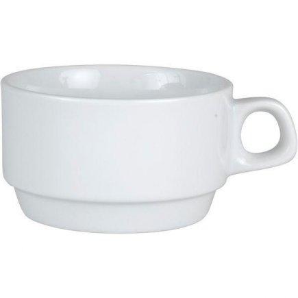 šálka na kávu 0,18 l, stohovateľná, vhodné doplniť podšálkou č.221156011, porcelán, Caroline