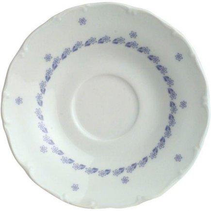 Podšálka kávová Ofelie 15 cm, modrý dekor