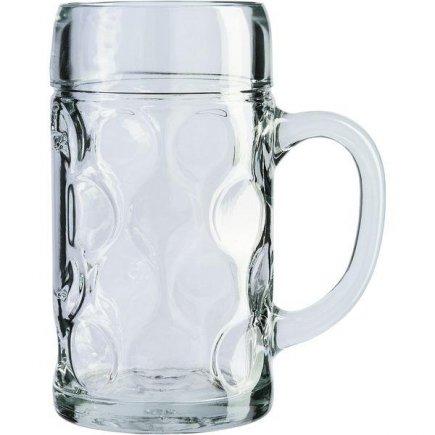 Pohár na pivo džbán Stölzle-oberglas Isar cejch 1,0 l, tuplák