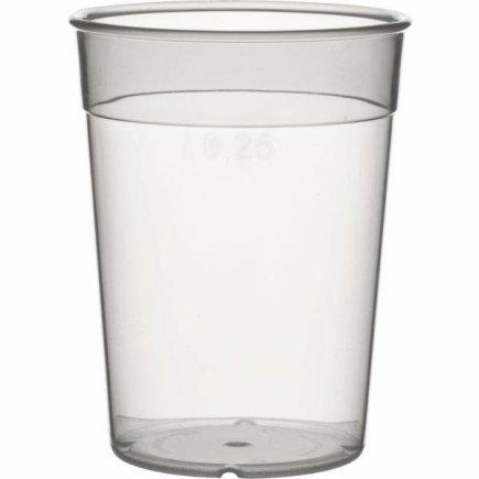 Kelímok plastový pre viacnásobné použitie Gastro cejch 0,25 l, mliečny
