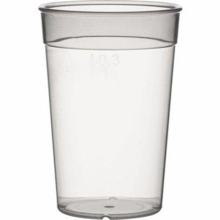 Kelímok plastový pre viacnásobné použitie Gastro cejch 0,3 l, mliečny