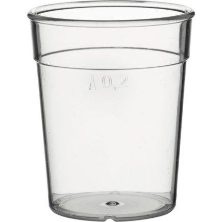Pohárik plastový pre viacnásobné použitie Gastro cejch 0,2 l
