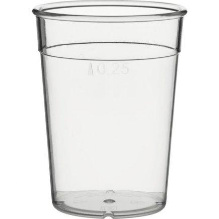 Kelímok plastový pre viacnásobné použitie Gastro cejch 0,25 l, číry