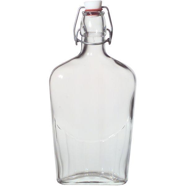 vrecková fľaša 250 ml, fľaše na alkohol, pálenku s oblúčikovým uzáverom, pérom, placátka, Gastro