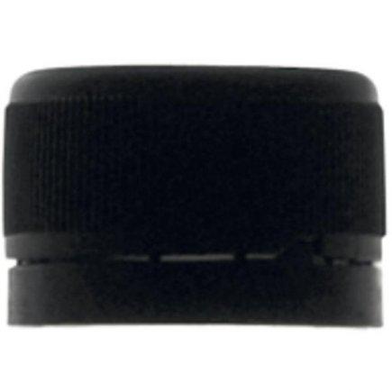 Skrutkovacie zátky, 10ks, čierna, bezpečnostný krúžok