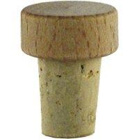 Špunt korkový drevená hlavička, priemer 14 mm pre fľašu 222208013