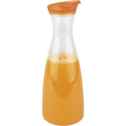 Karafa s vekom plastová APS 1600 ml, oranžové veko