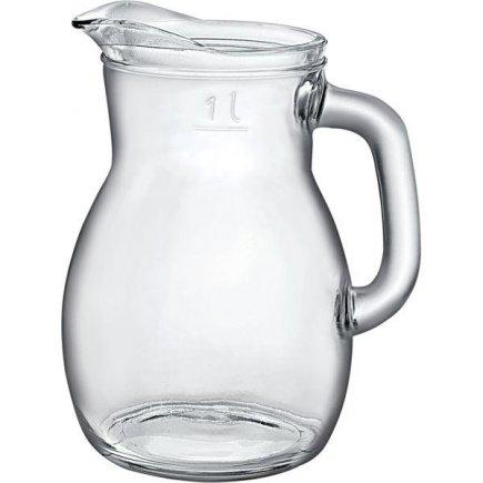 Džbán sklenený Bormioli Rocco Bistrot 1000 ml cejch 1,0 l
