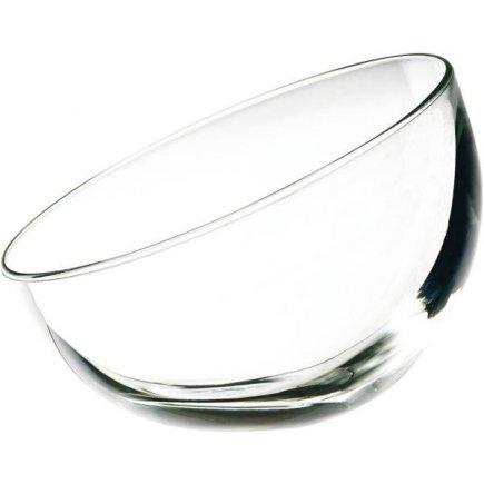 Miska oválna šikmá, sklenená, 0,13 l, Bubble
