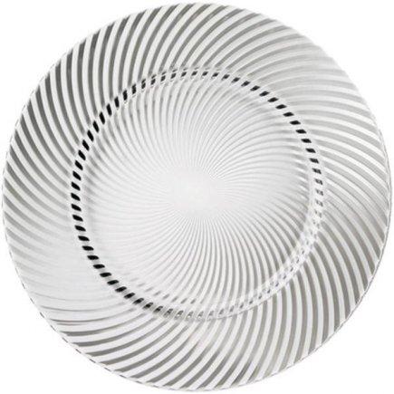 servírovací tanier klubový 32 cm sklo, Michelangelo čirý - Luigi Bormioli