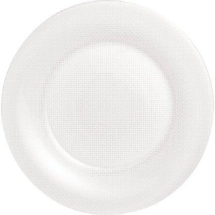 servírovací tanier klubový 31 cm sklo, čirý, dekorácie, aranžovanie, párty, oslavy, Inca - Bormioli Rocco