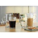 Hrnček sklenený s uškom na kávu, čaj, teplé nápoje, 0,3 l, Carina