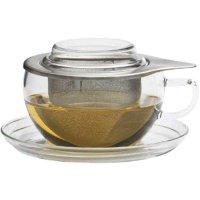 Šálka na čaj s podšálkou, pokrievkou a sitkom Tea Time 300 ml