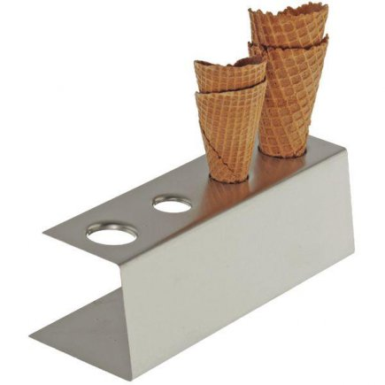 Stojan na zmrzlinu nerez APS, 4 otvory