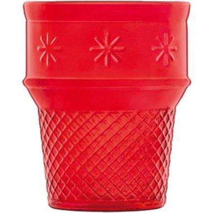 Pohár na zmrzlinu, 0,25l, červený , model Cono, Luigi Bormioli