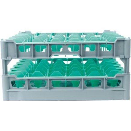 Kôš na poháre pre 36ks, 75x75 mm, pre pohár napr. ilios č.6 - 222298009, Kit - fries rack system