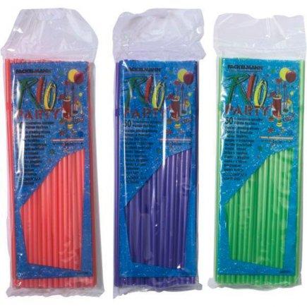 Barové slamky brčká Fackelmann 24 cm 50 ks, rôzne farby