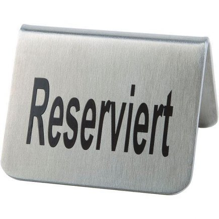 Stojanček na stôl Rezervácia nerez APS 3,5x5,5 cm