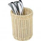 Košík na príbory okrúhly, polyrattan, sťahovateľný, pevný, omývateľný, APS