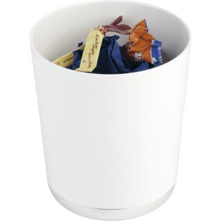 Stojanček na príbory príborník / odpadkový kôš na stôl APS, biely
