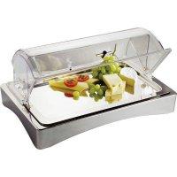 Bufetová servírovacia vitrína APS Top Fresh 56x35 cm, vrátane tácky a chladiacich vložiek, bez poklopu