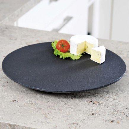 Servírovací podnos Kesper 30 cm guľatý, bridlice