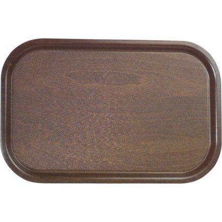 tácka, podnos lisované drevo protišmykový 33x32 cm Cambro