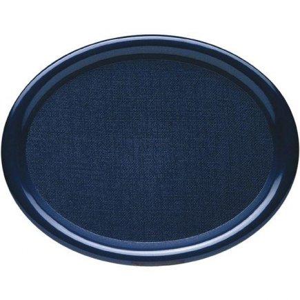 Tácka, podnos Waca ovál lesklý 26x20 cm modrý