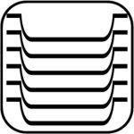 Servírovací tácka, podnos, ovál 28,5 x 21,5 cm, pre kaviarne, cukrárne, melamín, čierny, APS
