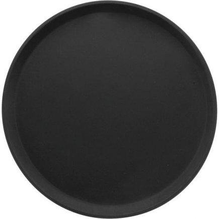tácka, podnos guľatý protišmykový, pogumovaný povrch 27,9 cm čierny, Cambro