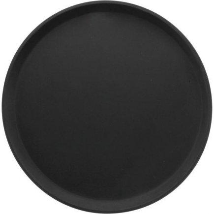 tácka, podnos guľatý protišmykový, pogumovaný povrch 35,6 cm čierny, Cambro