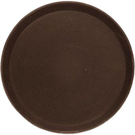 tácka, podnos guľatý protišmykový, pogumovaný povrch 35,6 cm hnedý, Cambro