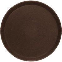tácka, podnos guľatý protišmykový, pogumovaný povrch 40,5 cm hnedý, Cambro
