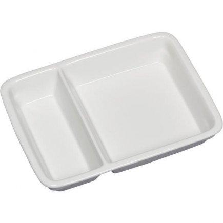 Tanier hranatý dvojdielny 2/3 + 1/3 Gastro 23,2x17,6 cm