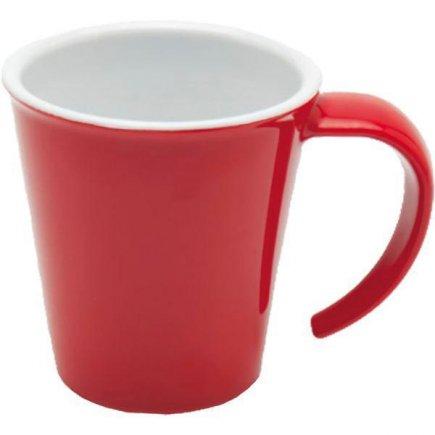 Hrnček na kávu plast Ornamin 350 ml, červený