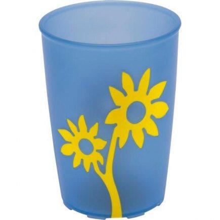 Kelímok plast Ornamin 250 ml, modrá / žltá