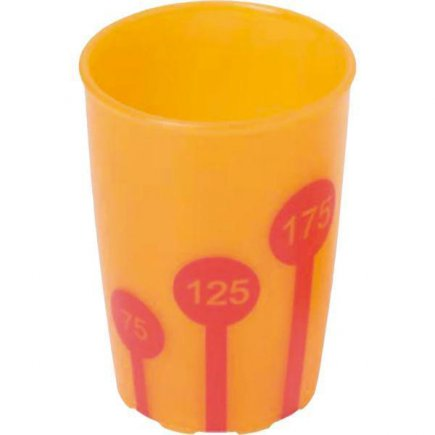 Kelímok plast Ornamin 250 ml, oranžová / červená