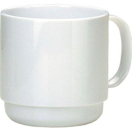 Hrnček plastový Ornamin 250 ml, biely