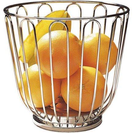 Servírovací košík na ovocie guľatý nerez APS 21,5 cm