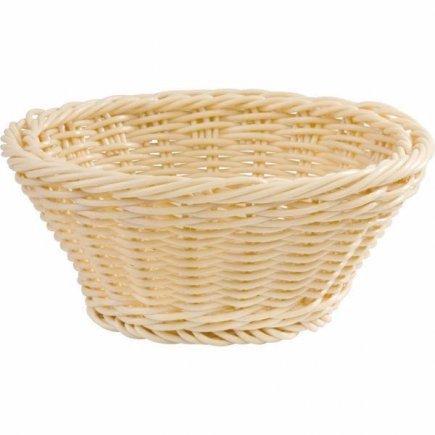 Košík na pečivo guľatý APS 19 cm, béžový