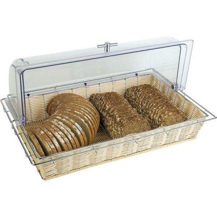 Koš na pečivo bez poklopu, umývateľný, hygienický, umelý ratan 53x32,5 cm APS
