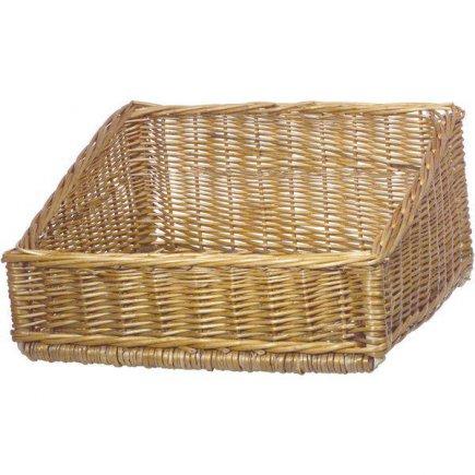 košík prezentačné, pultový, predajné šikmý 40x40 cm - Cedver