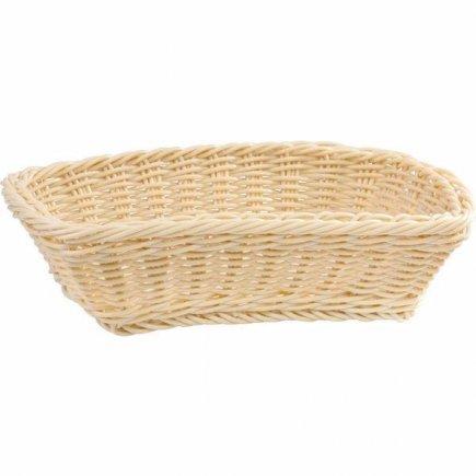 Košík na pečivo hranatý APS 31x21 cm, béžový