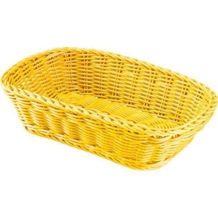 Košík na pečivo hranatý Westmark 26,5x19 cm, žltý