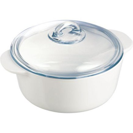 hrniec nízky s pokrievkou 20 cm pre mikrovlnky, rúry, plyn, elektriku a sklokeramiku, myčky, od-40st do 800st, Pyroflam, darčekové balenie, Gastro